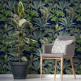 Mind the Gap Palmeras Anthracite Wallpaper
