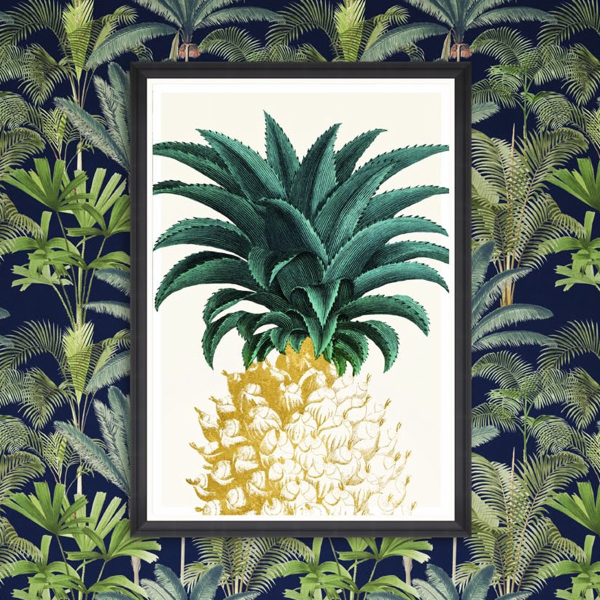 Mind the Gap Pineapple Sweet Framed Art FA12764