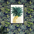 Mind the Gap Pineapple Sweet Framed Art