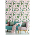 Mind the Gap Pink Palm Springs Wallpaper WP20361