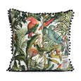 Mind the Gap Square Linen Parrots of Brasil Cushion LC40017