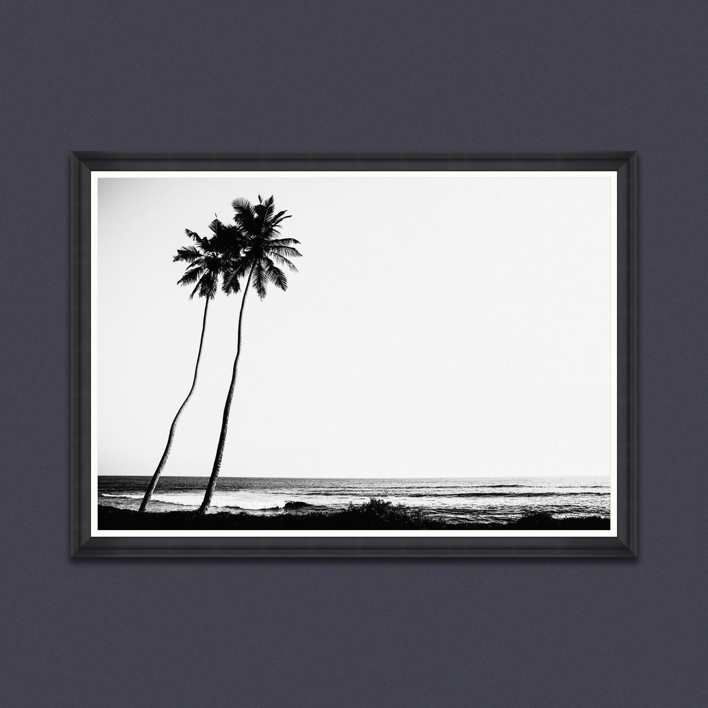 Mind the Gap Tropical Dawn Framed Monochrome Photography Print