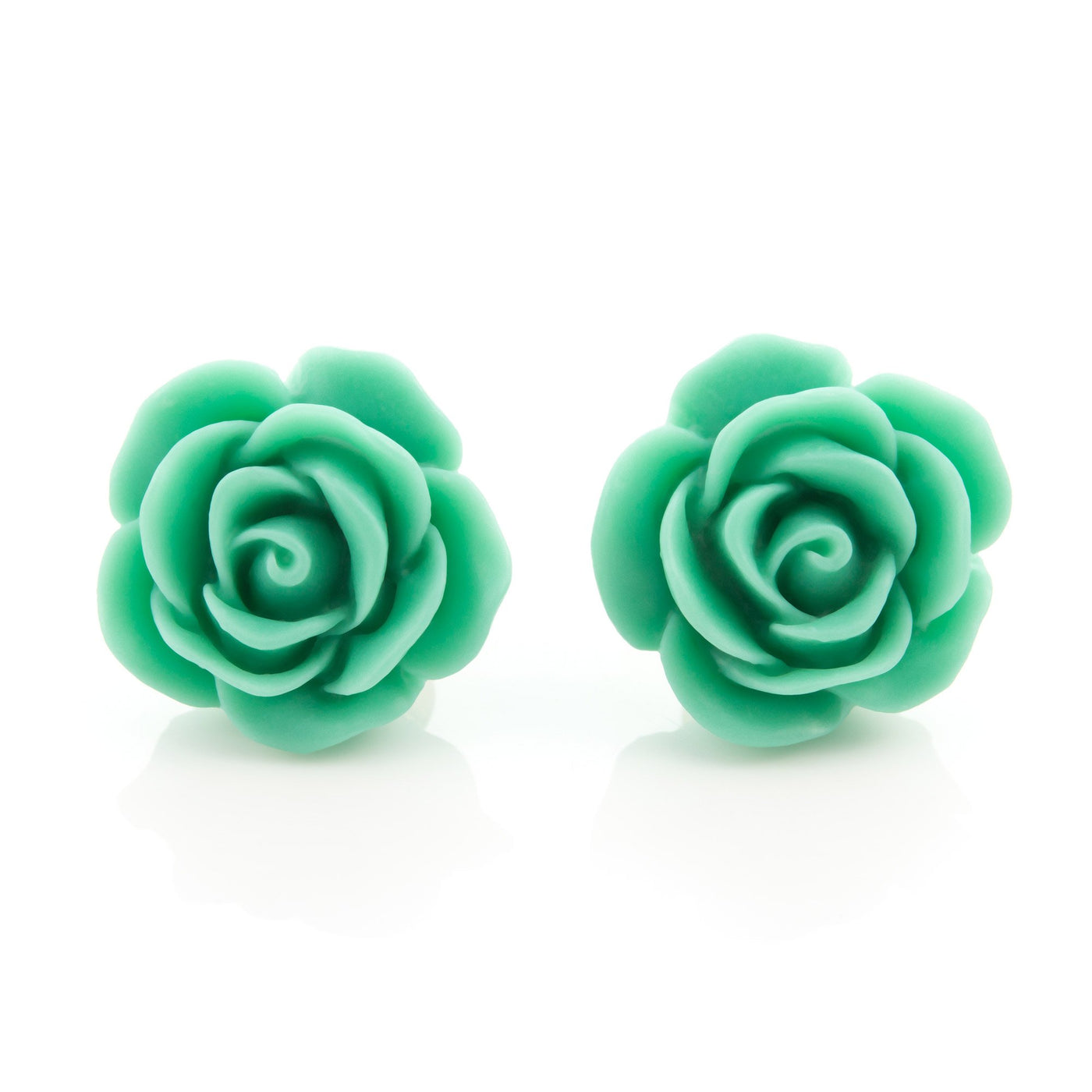 Mint Green Rose Earrings Dollydagger
