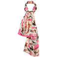 Pink Silk 1950's Pin Up Retro Scarf from Miss Budd