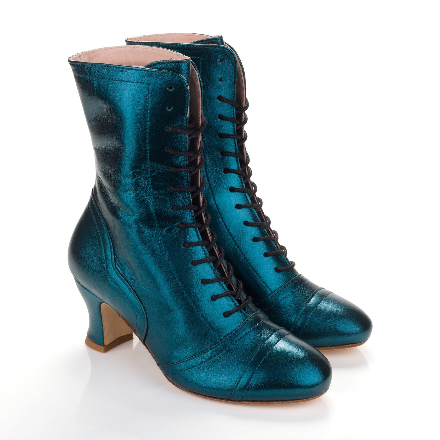 Miss L Fire Metallic Teal Frida Boots