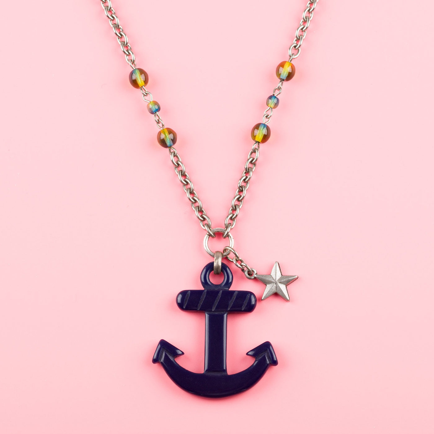 Nautical Anchor Necklace Navy Classic Hardware