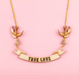 Nautical Scroll True Love Necklace