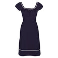 Navy Cotton Dress Polly Dollydagger
