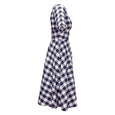 Navy Fit and Flare Gingham Dress