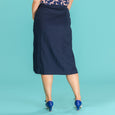Navy Linen Skirt Art Deco Dream Skirt Emmy Design