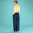 Navy Wide Leg Trousers Emmy Design Ship Mate Slacks