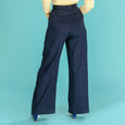 Navy Wide Leg Trousers Ship Mate Slacks Emmy Design