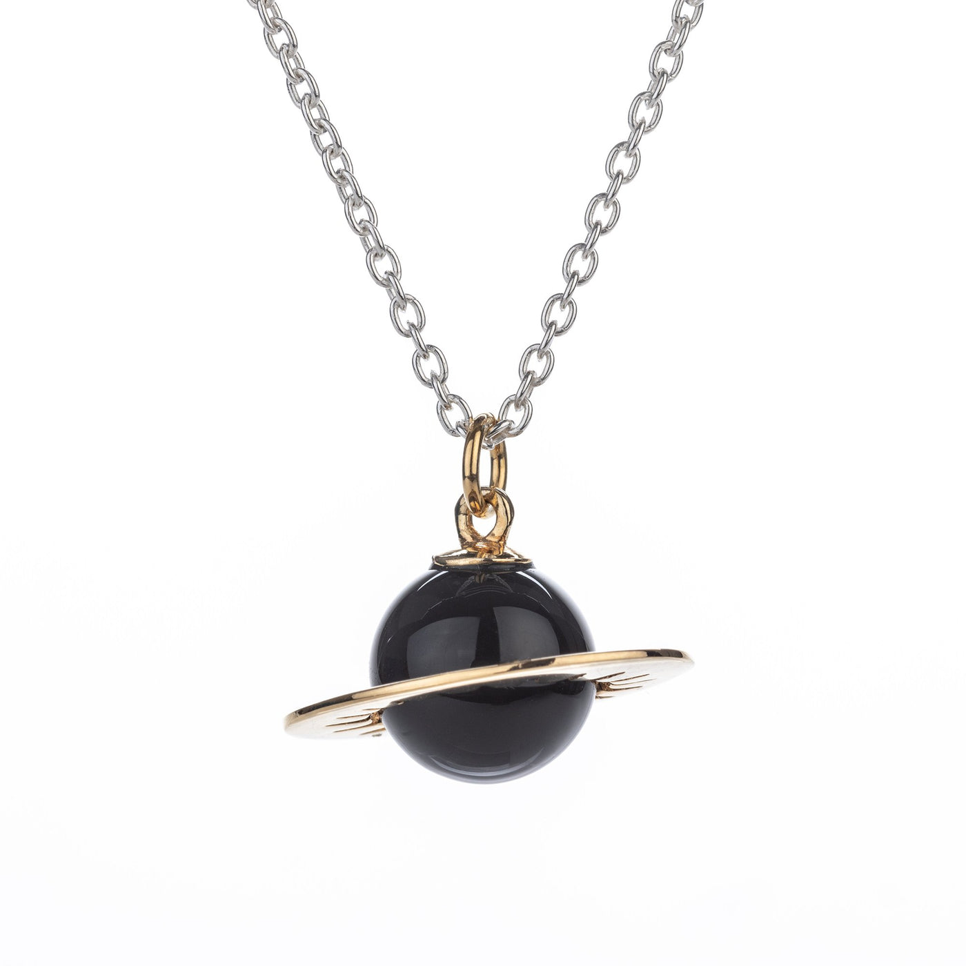 Orb Pendant Necklace Black Onyx Tina Lilienthal