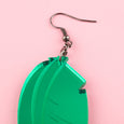 Perspex Leaf Earrings