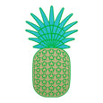 Pineapple Wall Decoration Dollydagger x Curly Mark