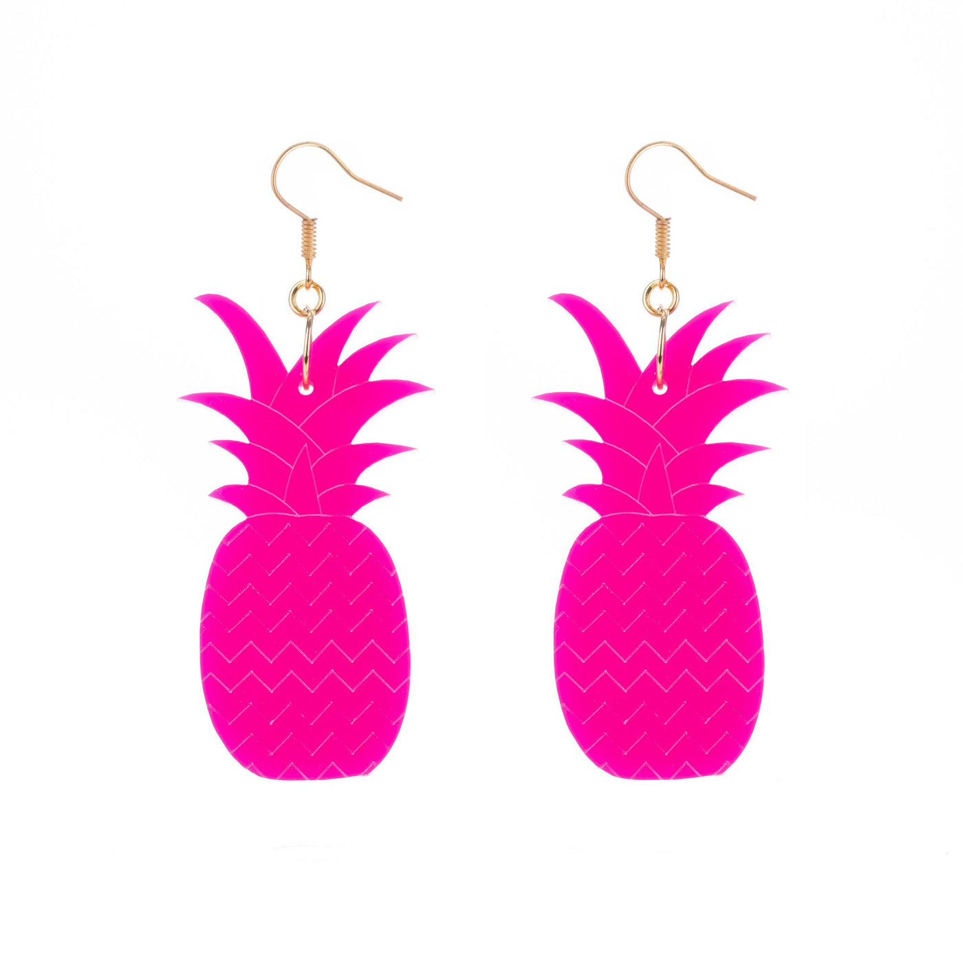 Pink Pineapple Earrings
