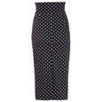 Polka Dot Pencil Skirt Black and White Dita Dollydagger