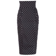 Polka Dot Pencil Skirt Dollydagger Dita Black and White