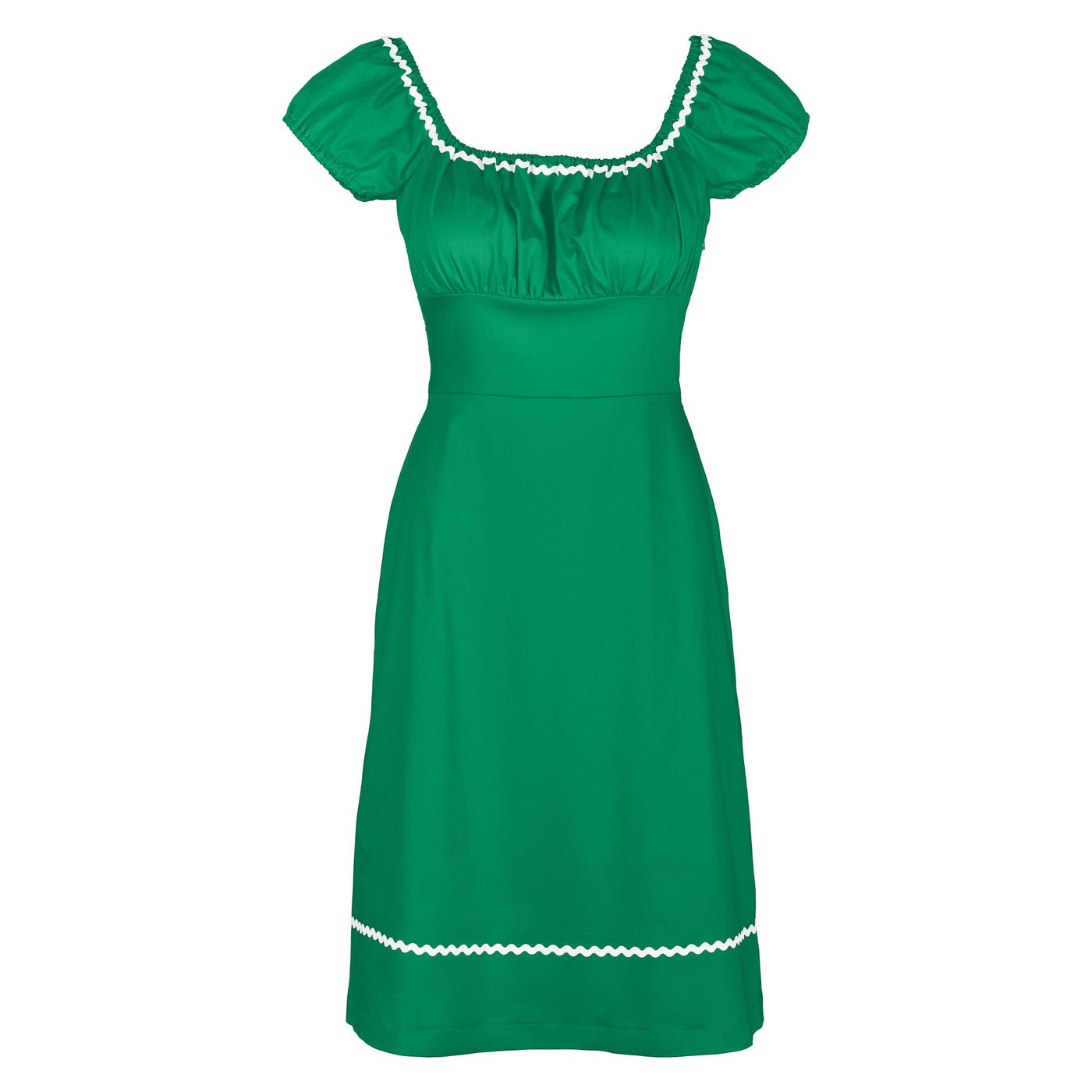 Dollydagger Polly Green Ric Rac Dress