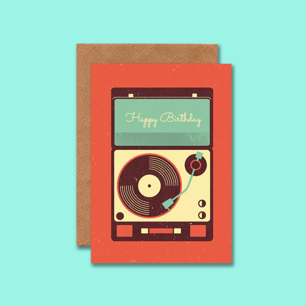 Record Player Card Telegramme