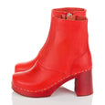 Red Clog Boots Swedish Hasbeens