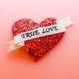 Red Glitter True Love Heart Hair Clip Dollydagger