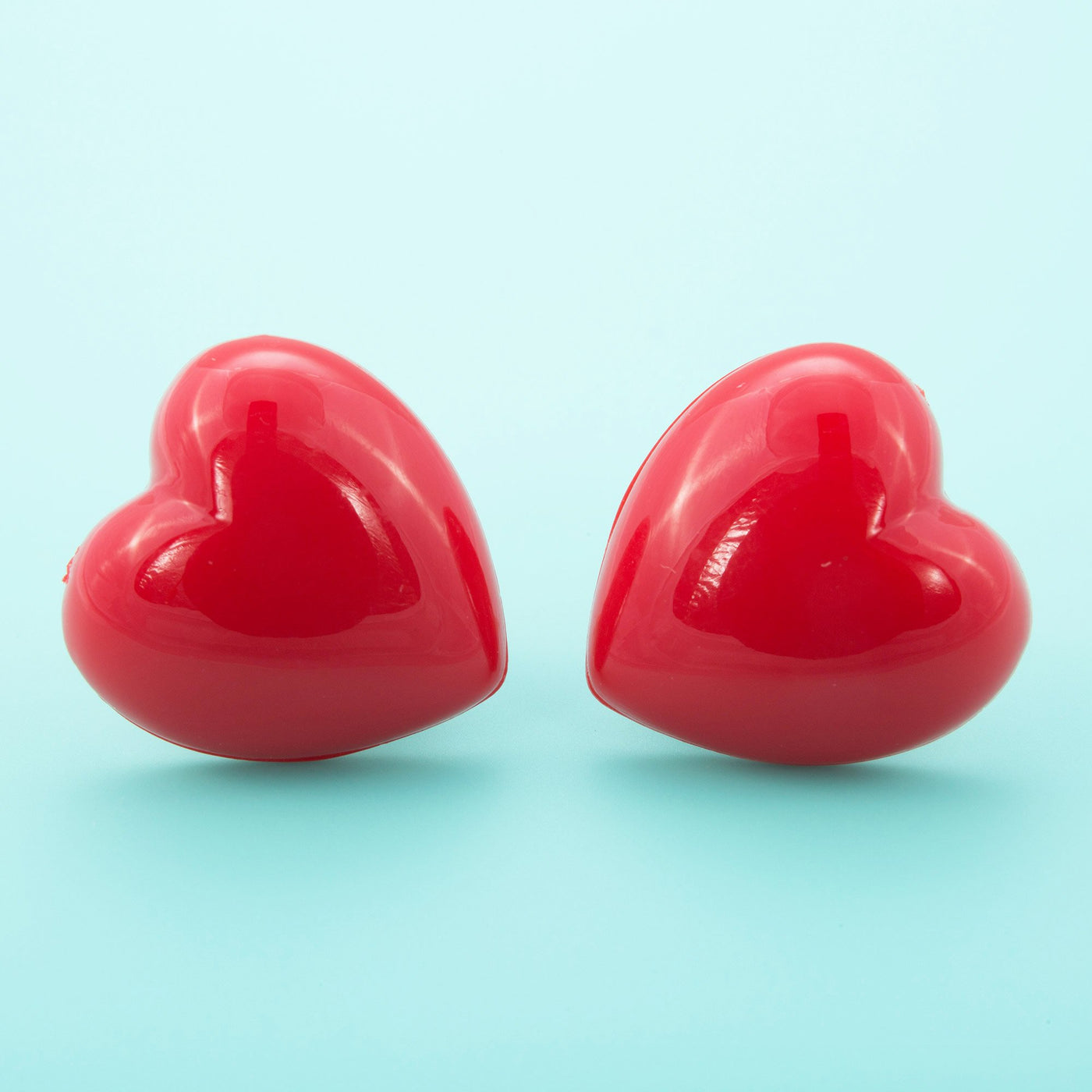 Red Acrylic Retro Heart Earrings by Dollydagger