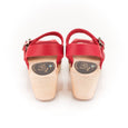 Red Peeptoe Clogs by Lotta from Stockholm at Dollydagger