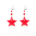 Red Star Earrings Classic Hardware