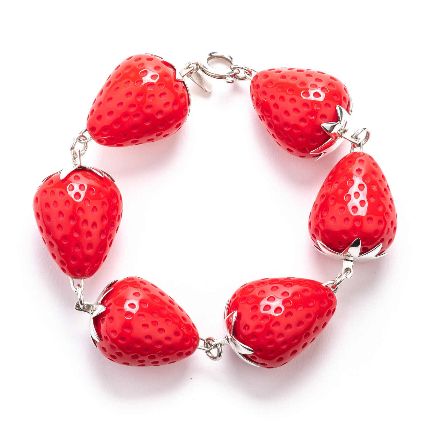 Red Strawberry Bracelet Tina Lilienthal
