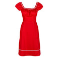 Red Stretch Cotton Dress Polly by Dollydagger