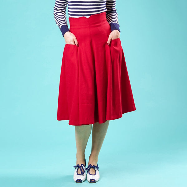 Red Swing Skirt Swirly Sweetheart Emmy Design