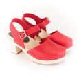 Red Wooden Clogs by Lotta from Stockholm at Dollydagger