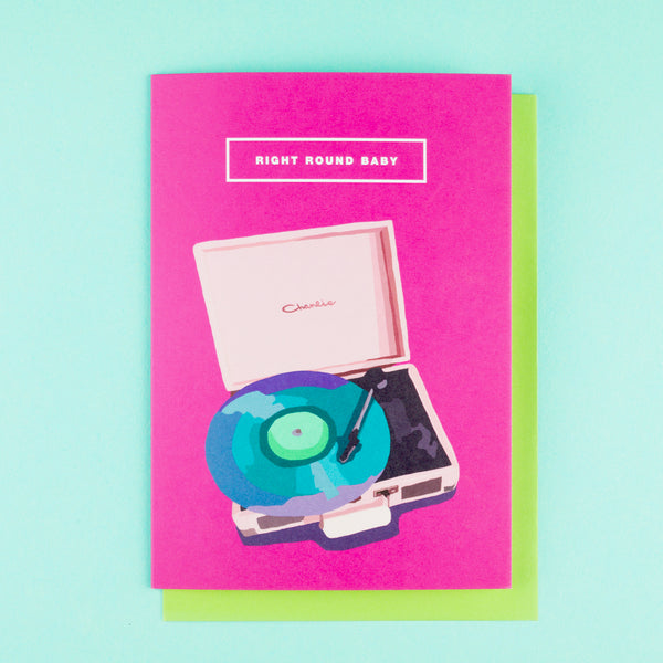 Retro 1980s Card Record Player Emily Brooks
