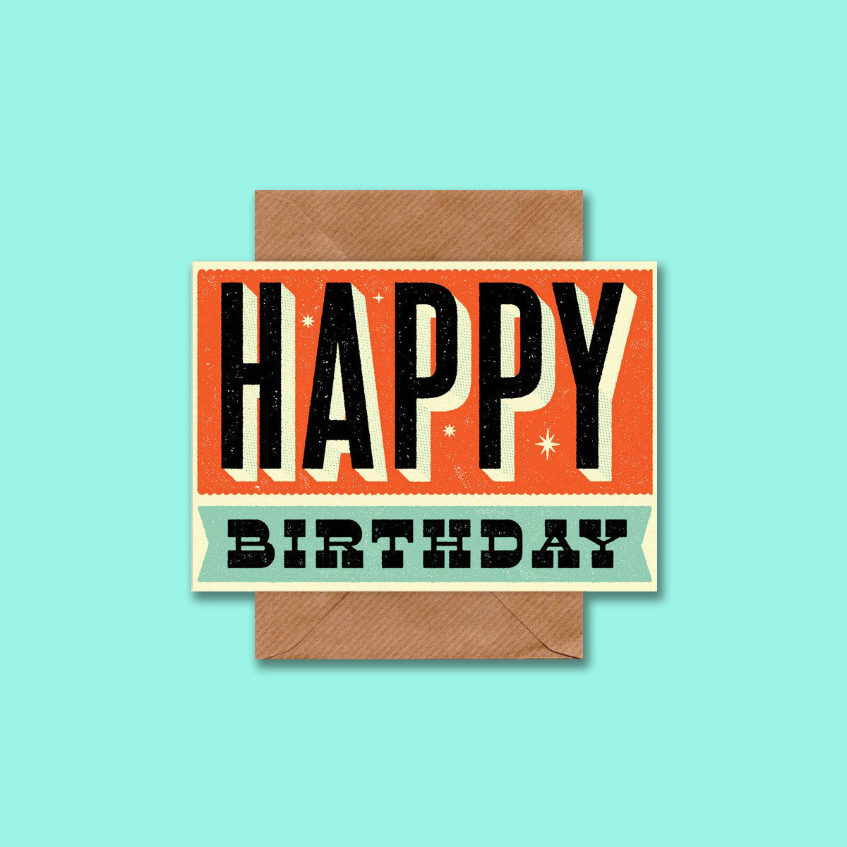 Retro Birthday Card Telegramme