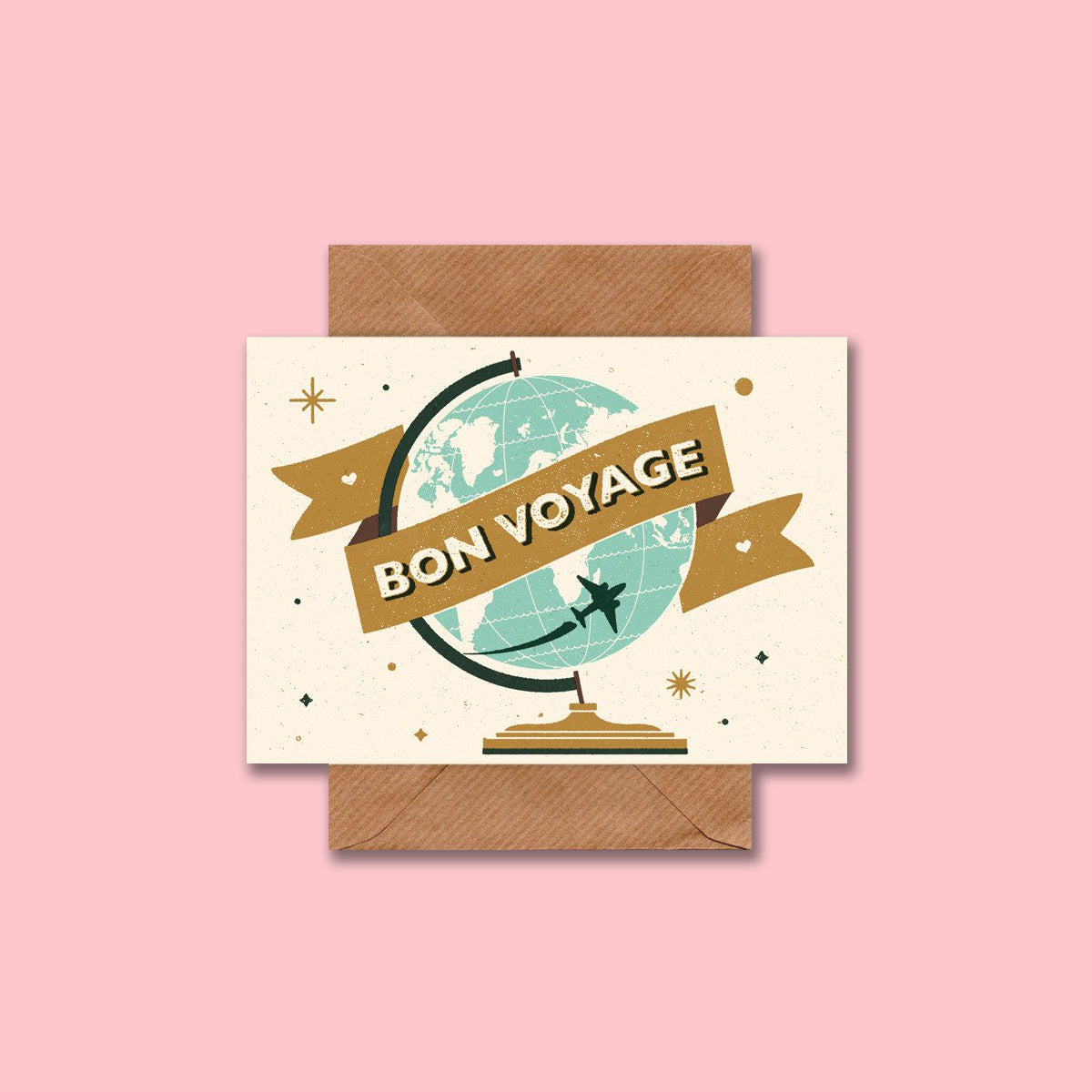 Retro Bon Voyage Card by Telegramme