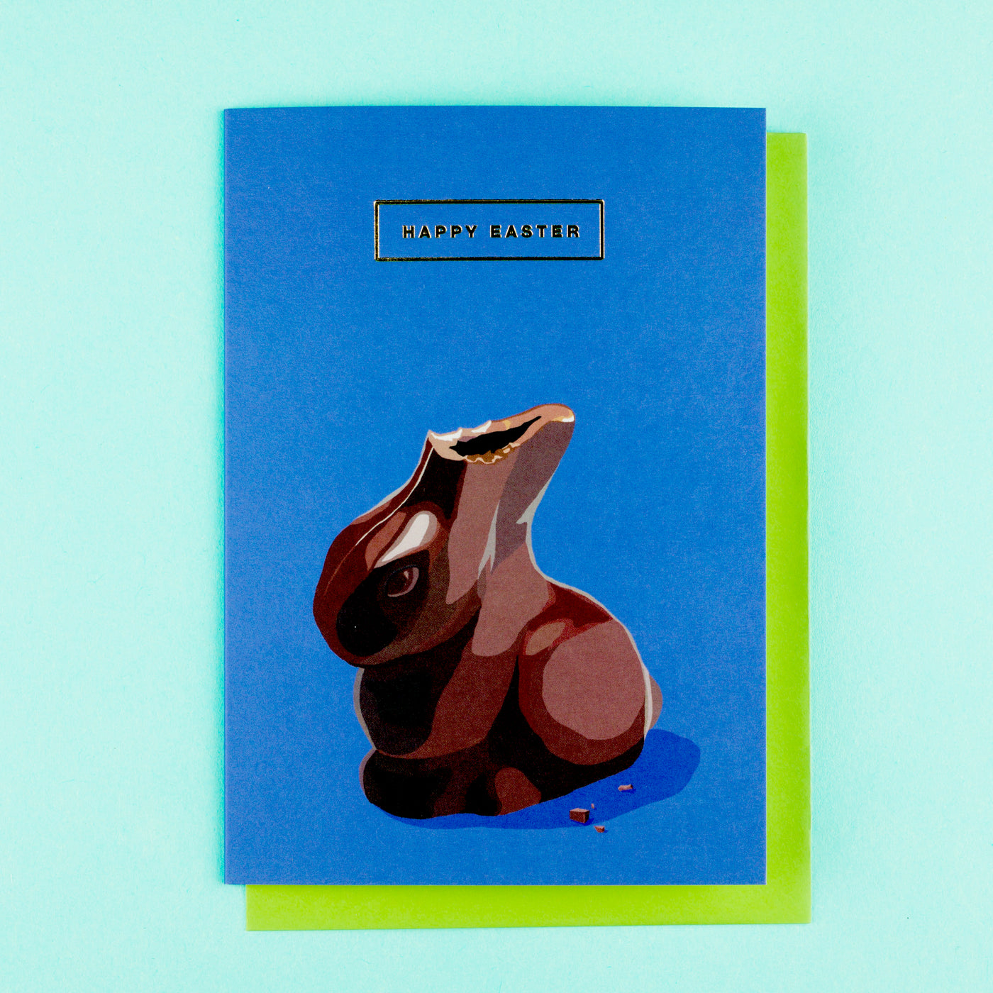 Retro Easter Card Chocolate Bunny Emily Brooks