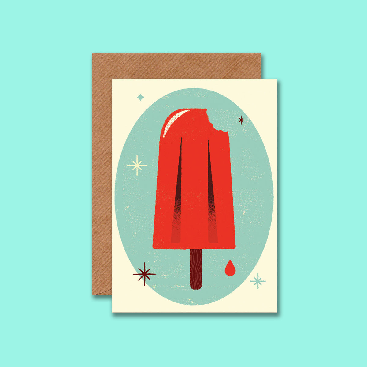 Retro Ice Lolly Card by Telegramme