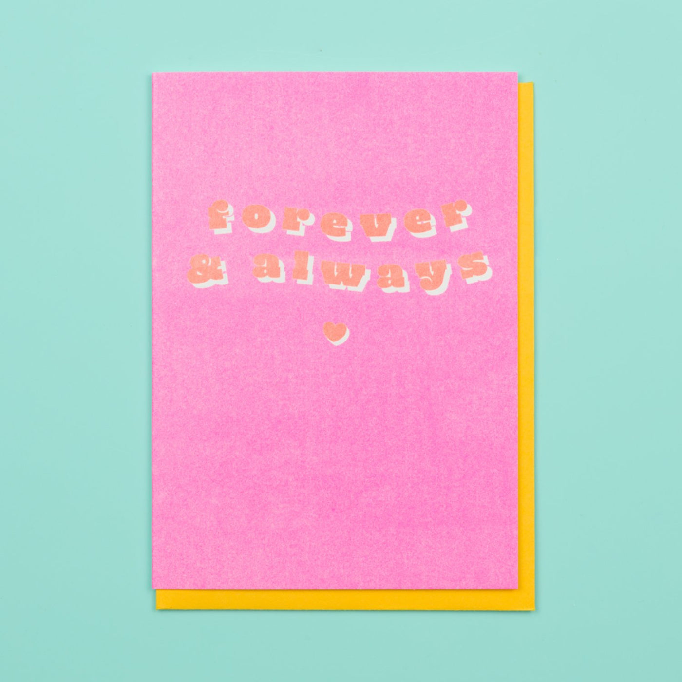 Riso Valentines Card Forever Always Ohh Deer