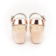 Rose Gold Leather Clogs by Lotta from Stockholm at Dollydagger