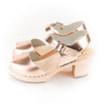 Rose Gold Open Toe Clogs by Lotta from Stockholm at Dollydagger