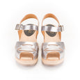 Silver Peep Toe Clogs by Lotta from Stockholm at Dollydagger