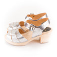 Silver Peeptoe Clogs by Lotta from Stockholm at Dollydagger
