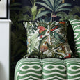 Square Parrots of Brasil Cushion Mind the Gap