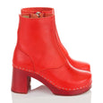 Swedish Hasbeens Red 1960s Clog Boots