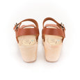Tan Leather Open Toe Clogs by Lotta from Stockholm at Dollydagger