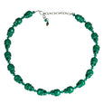 Tarina Tarantino Emerald Green Skull Necklace at Dollydagger