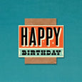 Telegramme Retro Happy Birthday Card