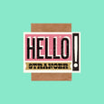 Telegramme Hello Stranger Retro Card