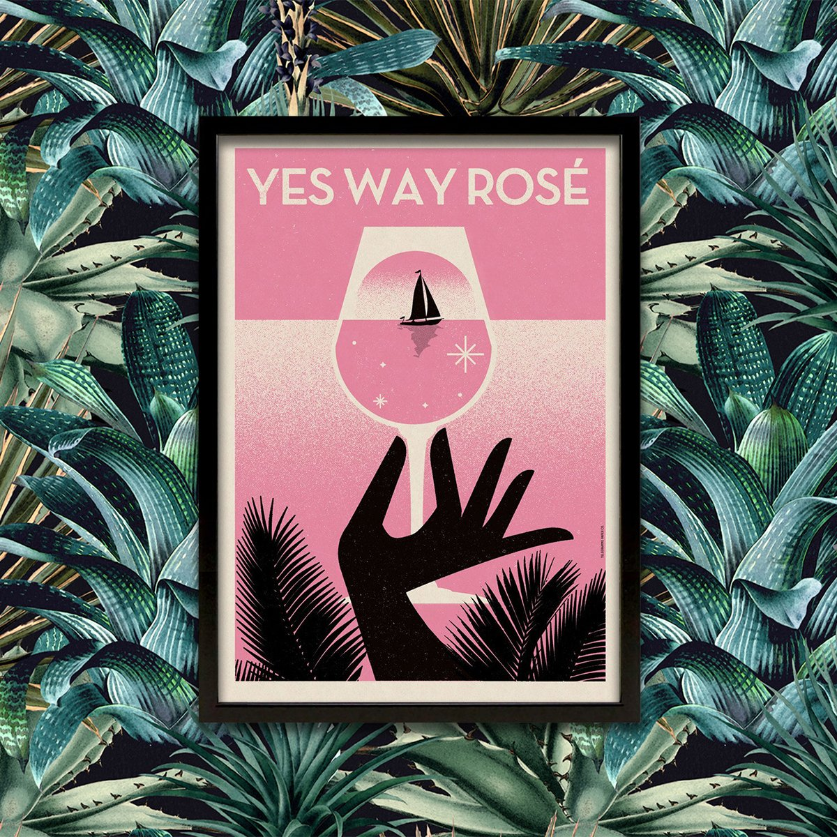Telegramme Yes Way Rosé Limited Edition A2 Screen Print